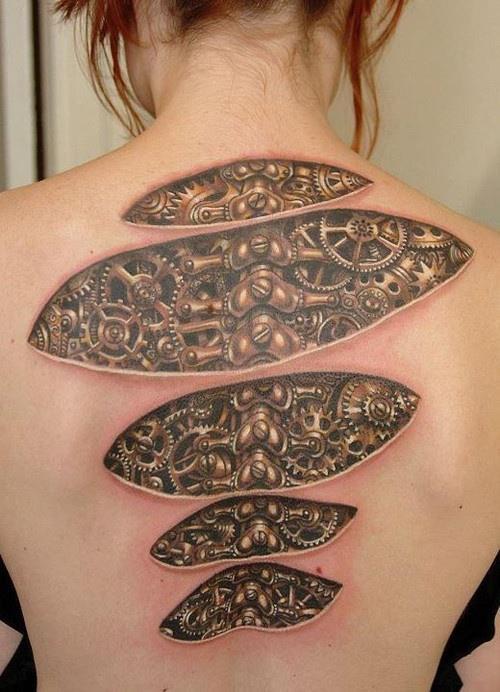 Cyborg girl tattoo