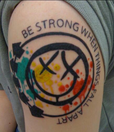 Blink 182 shoulder tattoo