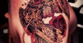 Deat bird tattoo
