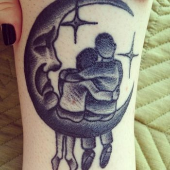 The Moon and a couple tattoo