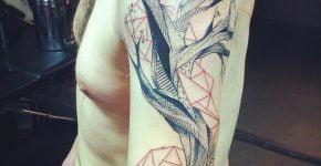 Tree tattoo by Lenad Lada