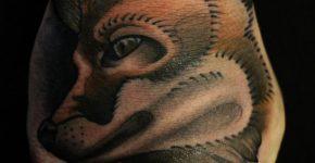Fox tattoo on the fist