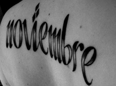 November tattoo