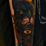 Tatuaje del logo Black Flag