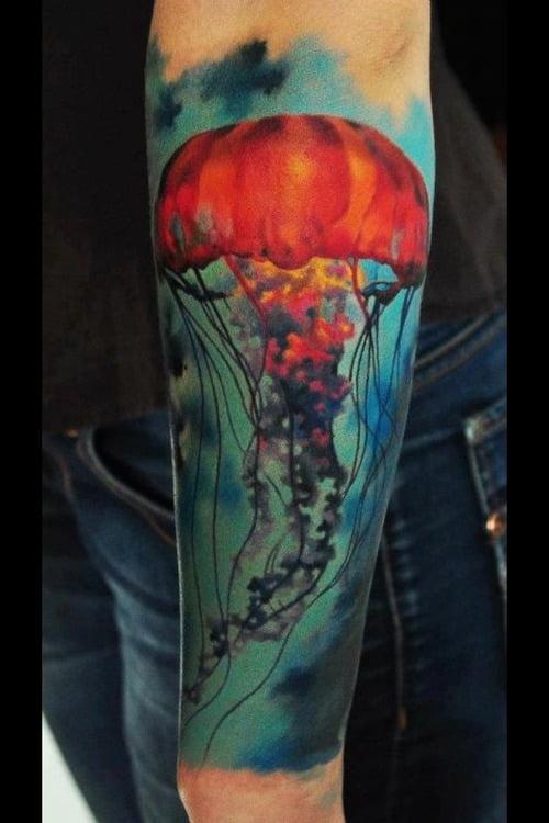 best jellyfish tattoo