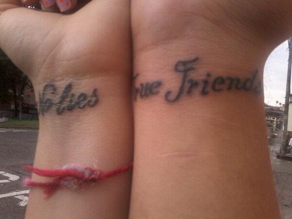 No lies true friends tattoo
