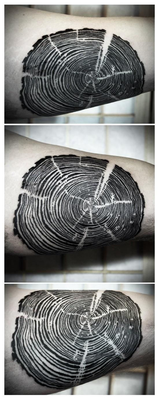 tree ring tattoo