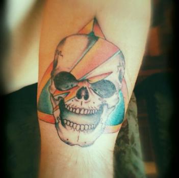 Bowie Skull tattoo