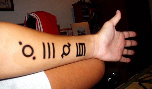 30 seconds to mars arm tattoo