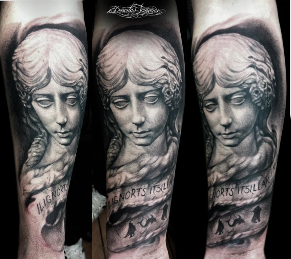Angel tattoo by Domantas