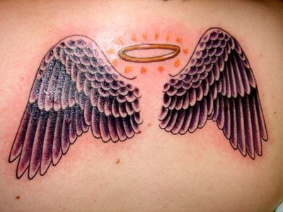 Angel's wing tattoo for girls