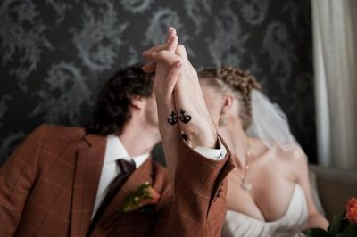 Anchor tattoo for couples