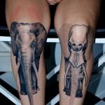 Tatuaje de araña con calavera