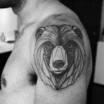Tatuaje de una cabaña