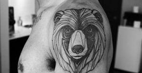 bear tattoo on shoulder