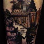 Tatuaje oso en el hombro