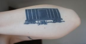 railroad car tattoo