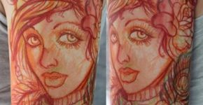 Drawing style tattoo