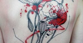 flower tattoos on the back