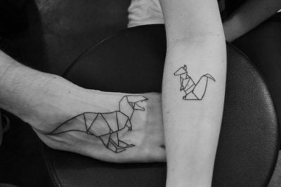 origami style tattoos