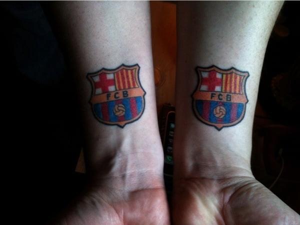 Barcelona soccer tattoo