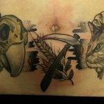 Tatuaje estilo acuarela de flores