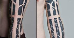 Tatuaje árbol en todo el brazo
