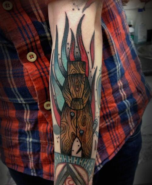 Wooden horse tattoo
