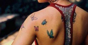 Mariposa tatuada