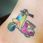 Tatuaje de Lamb of God en espalda