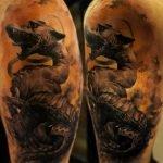 Tatuaje Ride Fast en dedos