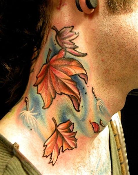 Tatuajes hojas de otoño