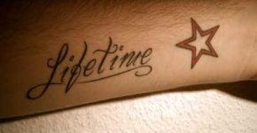 tatuaje lifetime y estrella