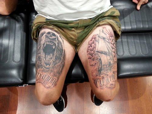 Tatuajes en muslos de hombre