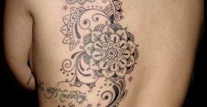Swirl mandalas tattoo