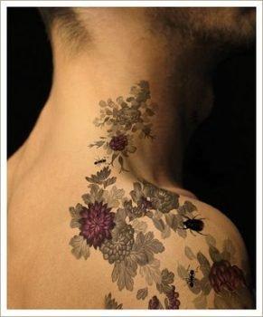 Tatuajes de flores para hombres