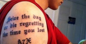 Seize the day tattoo
