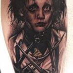 Zorro tatuado en antebrazo