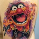Tatuaje estilo brochazos de pintura