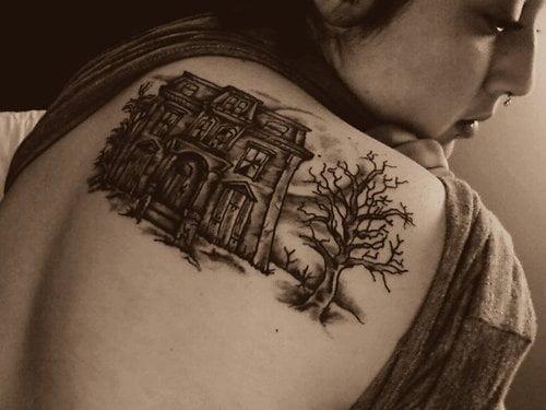 Spooky House tattoo