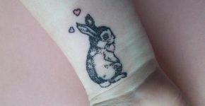 Bunny in love tattoo