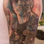 Tatuaje de retrato por Amanda Wachob