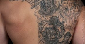 Anil Gupta back tattoos
