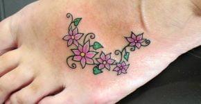 Vine tattoo on feet