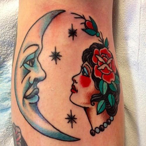 Tatuaje De Luna Y Mujer Tatuajesxd