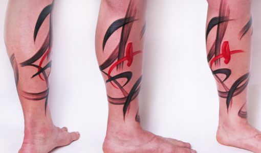 Paint stroke tattoo