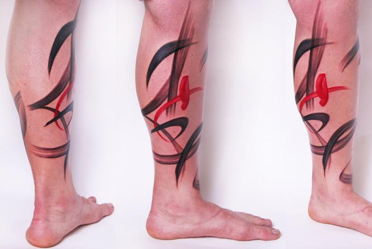 Paint stroke tattoo