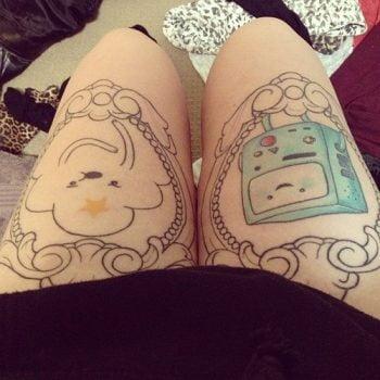 Adventure Time tatuajes para mujeres