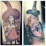 Tatuaje niña con paraguas