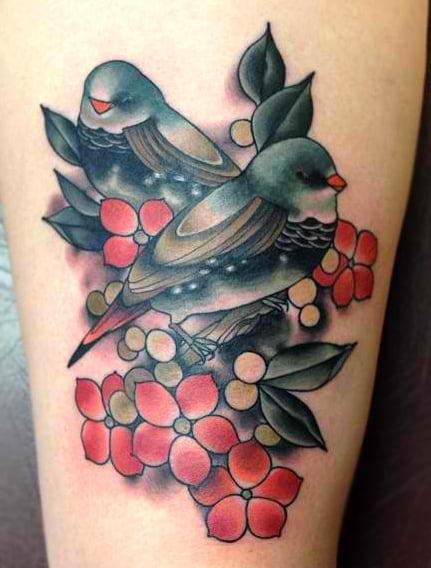 Tatuajes de gorriones